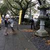 明寿会の皆様に参道の清掃をして頂きました。
