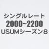 USUMシーズン8上位構築まとめ【最高レート順 2000~2200】
