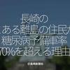 976食目「長崎のとある離島の住民が糖尿病予備軍率70%を超える理由」@ 長崎新聞社