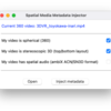 M1 Macで「Spatial Media Metadata Injector」が起動しなくなったら