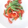 「いんげんと赤パプリカの炒め物」レシピ
