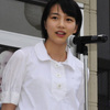 女優のんさん、台風被害の久慈市民激励 ファンら1000人熱狂