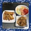 ★動画つき★夕飯【ローテーション献立27】揚げもの・蒸し野菜・たけのことちくわの土佐煮