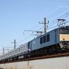 E235系1000番台F-03編成配給、キャラ桃充当75レなど 貨物列車撮影 9/30