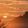 霧と犬山城