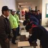 大宮区主催の避難場所運営設置訓練
