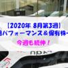 【株式】週間運用パフォーマンス&保有株一覧(2020.8.21時点) 今週も続伸!