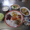 幸運な病のレシピ( 1227 )夜 :タコぶつ、カツオタタキ、汁(タケノコ少々)