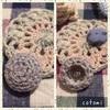 時間を楽しむ編み物。そしてくるみボタン。
