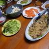 幸運な病のレシピ( 364 ) 夜:魚煮付け、餃子ピザ、バンバンジー、鳥スープ