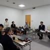 9日夜、福大の佐藤教授を講師に県議団が再エネ学習会。