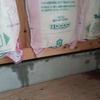 新築アパートの工事 台風の影響で室内が、濡れる