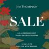 2017年12月のジムトンプソン セール【日程メモ】@BITEC, Bangkok