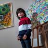 ドイツに7歳の抽象画家