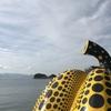 旅行記 アートの島 直島へ! 前編 バタバタとフェリーに乗って赤かぼちゃと黄かぼちゃと対面♪