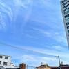 なんか飛行機雲久しぶりに見ましたよ!空は徐々に夏ですね!