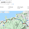 自転車通勤片道20kmくらい