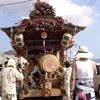 活気あふれる船形「柳塚」。祭礼に出祭する屋台は重厚な昇り龍下り龍が見物!