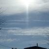 年の瀬、飛行機雲