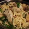 牡蠣と水菜のペペロンチーノ