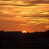 今日の夕日と空