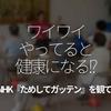158食目「ワイワイやってると健康になる!?」 - NHKためしてガッテンを観て -