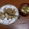 幸運な病のレシピ( 988 )朝:煮込みハンバーグ(和風)、イワシテリテリ、鮭、牛丼仕立て直し(焼きとうふ+ネギ入り)