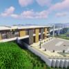 【Minecraft】郊外に高架駅を作る