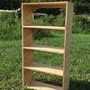 4段の本棚を木で作ってみました。お部屋の収納棚を自作です。