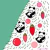 クリスマスツリー パンダのイラスト