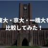 東大・京大・一橋大を比較してみた!【学部、二外、留年率、etc.】