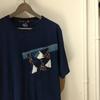 インディゴ×グランジパッチワークTシャツ