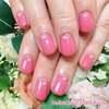 ジューシーなピンクで♡春色ピンクなワンカラーネイル☆ジェル