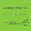 この英語聴き取れますか㉖:イズぜァ、ワユ-ウドゥ-?