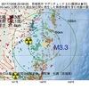 2017年10月08日 22時09分 宮城県沖でM3.3の地震