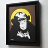 額装済み絵画をさらに二点販売チンパンジーとペンギンの絵