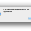 iOS Simulator failed to install the application.