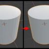 Blender 2.8 で指定角度以内の角を滑らかな曲面にする
