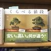 東京書籍「くらべる値段」(高い盆栽、安い盆栽)