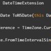 DateTime を NSDate に変換する関数を 拡張メソッドで作ってみる