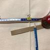 紙バンドで「石畳編み※」初挑戦!(2)紙バンドを 測って 切って 割く