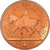 イギリス2002年ゴールデンジュビリー5ポンド金貨 馬上のエリザベス