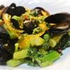 ムール貝と菜の花のサラダ