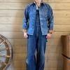 DELUXEWARE/デラックスウエア 定番商品を代表するデニムシャツ! 【 7640 】40sデニムシャツ がサイズ揃って入荷してます♬