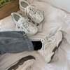 ダットスニーカー 反射板 厚底スニーカー 韓国ファッション レディース 厚底 スニーカー