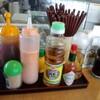 とんかつの店「ゆきの」で「海老マヨ(単品)+定食オプション」 400円+200円