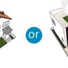 屋上庭園ー屋根にするか?屋上にするか?