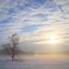 雪国の朝焼けと角型フィルターのお話
