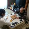 ゆき、じいちゃんと将棋対決