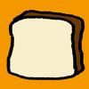 食パンはフライパンで焼いてもおいしい。ベーコンと卵をのせて。